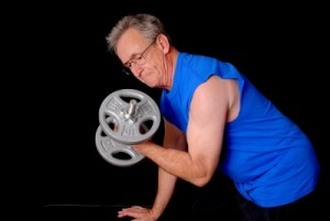 picture of man working out
