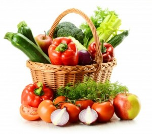 picture of garden vegetables in basket