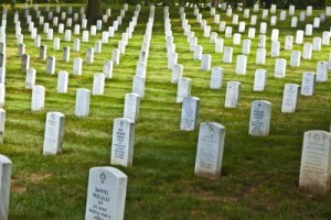 picture of gravestones of war casualties