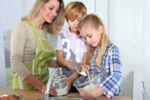 Have your kid help out in the food preparation of your meals.