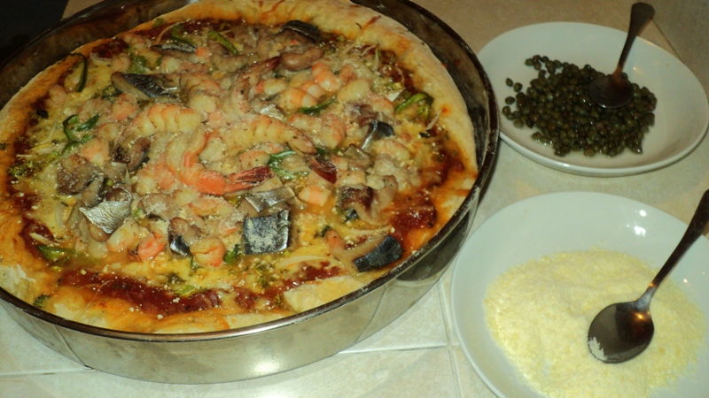 Healthy Seafood Pizza