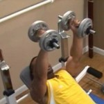 picture of man doing inclined dumbell press