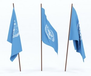 picture of united nations flags