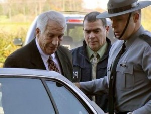 picture of jerry sandusky getting arrested