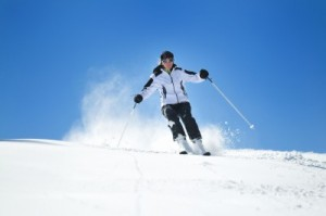 picture of person skiing