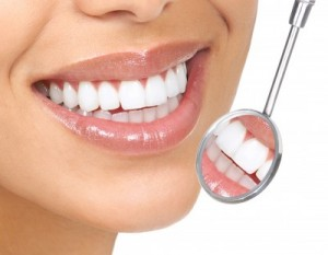 picture of naturally white teeth female