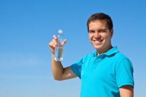 picture of man drinking water