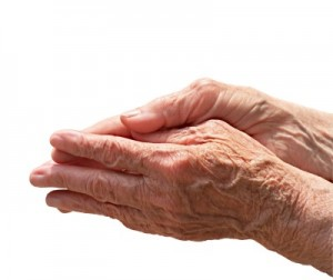 picture of person with arthritis hands