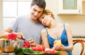 picture of couple cooking