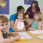 picture of Children play and learn at the preschool class