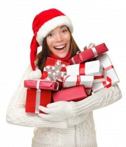 picture of woman with gifts