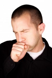 picture of man coughing
