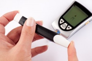 picture of blood glucose measuring