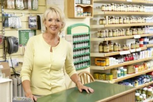 picture of Female sales assistant in health food store