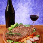 picture of Grilled steak and salad