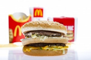picture of McDonalds Big Mac Menu isolated on white studio shot