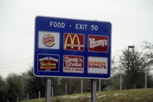 picture of fast food signs