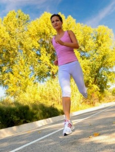 picture of girl jogging