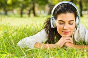 picture of girl listening to music