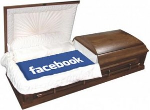 picture of facebook coffin