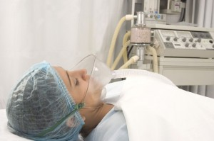 picture of woman in hospital