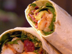 picture of shrimp wraps with cole slaw