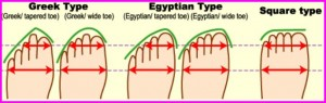 picture of types of feet