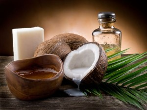 picture of coconuts with oil