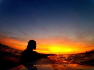 picture of sunset surf