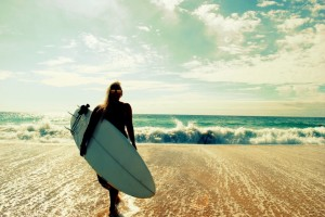 picture of surfer girl