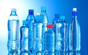 picture of Group plastic bottles of water