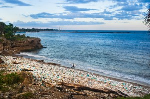 picture of Trash strewn beach