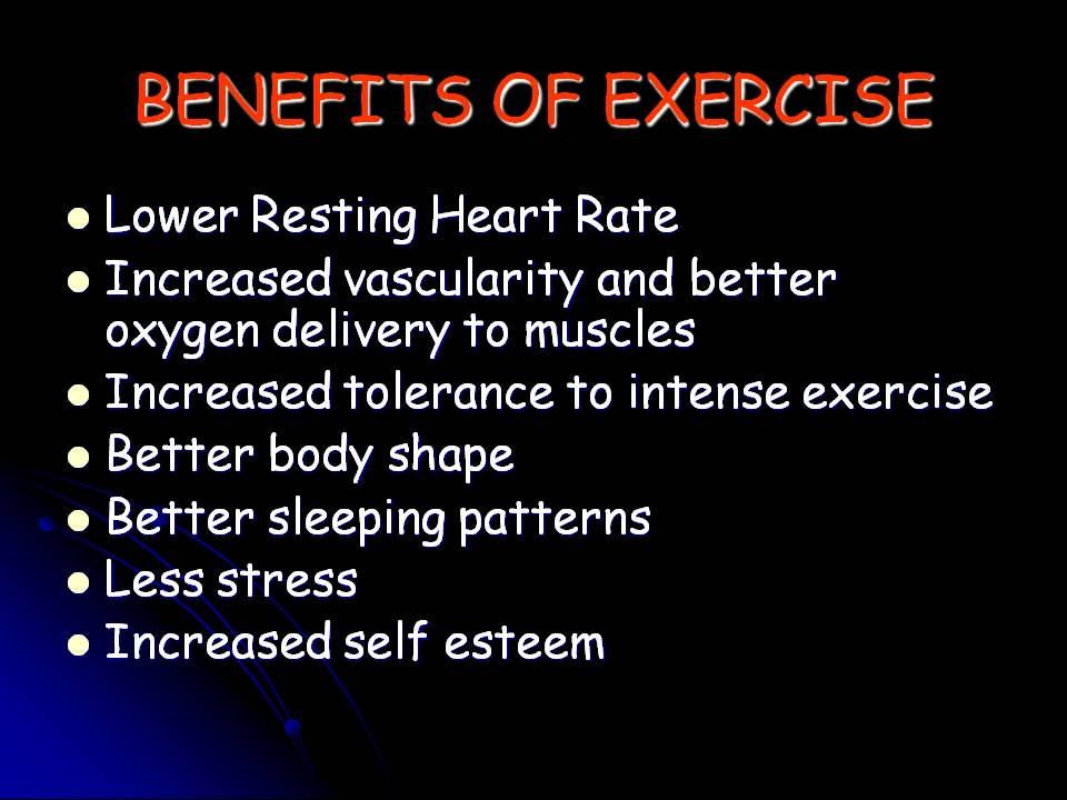 Maintaining The Benefits Of Exercise